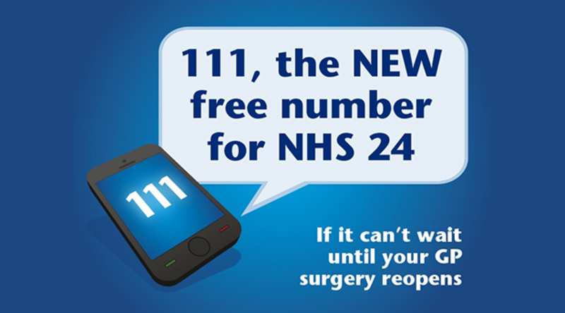 111 - NHS24 new number