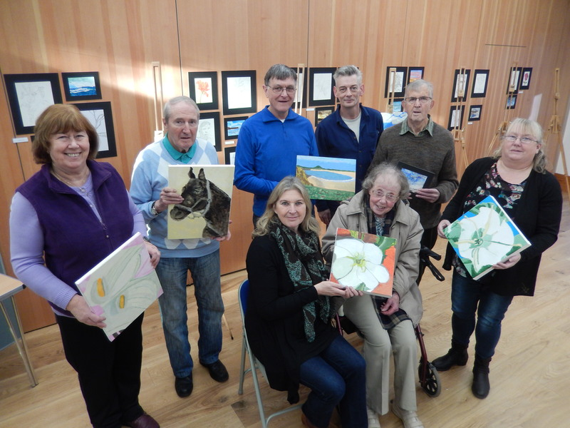Creative Discoveries Art display in Broughty Ferry