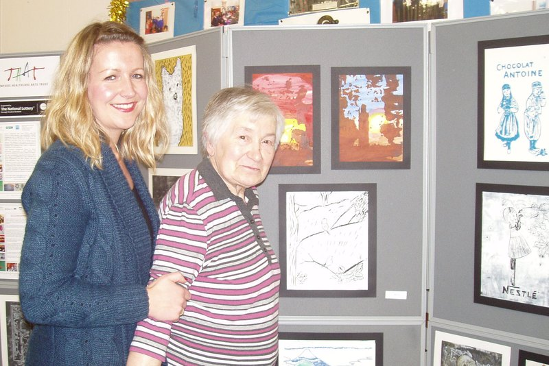 Prints display created by people living with Parkinson's disease in Angus