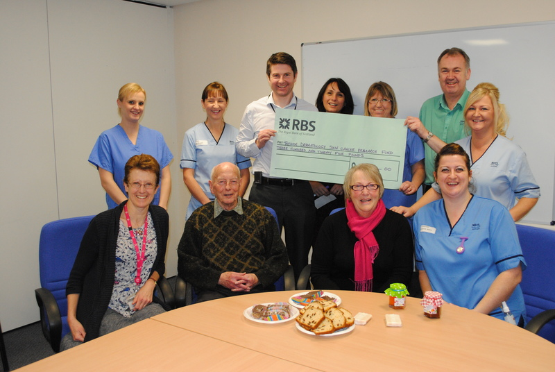 17-12-14 Donation to the Tayside skin cancer research fund