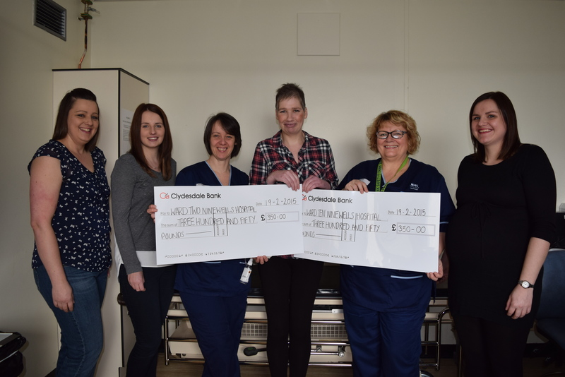 17-03-15 Donation to wards 2 and 10 Ninewells