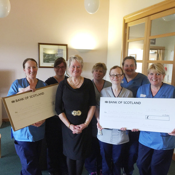 Donation to lung cancer team and Roxburghe House