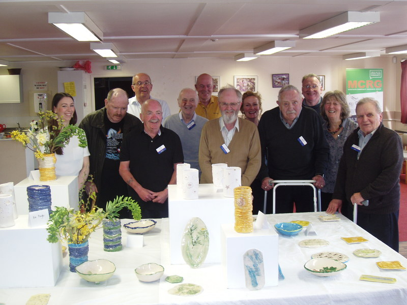 Ceramic art work display in Monifieth