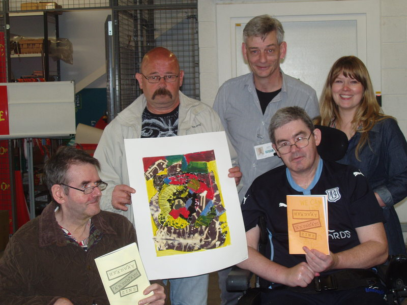 Headway Tayside Arbroath group unveil art display