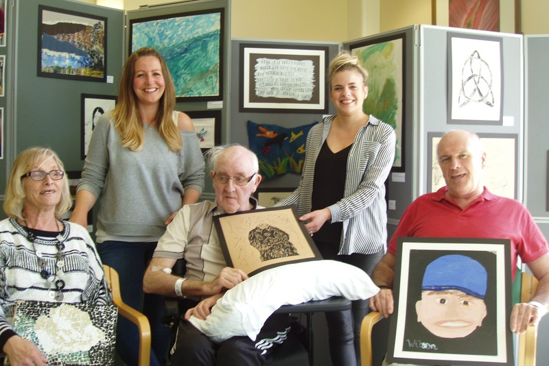 Celebration of patient's art at Stracathro stroke rehabilitation unit