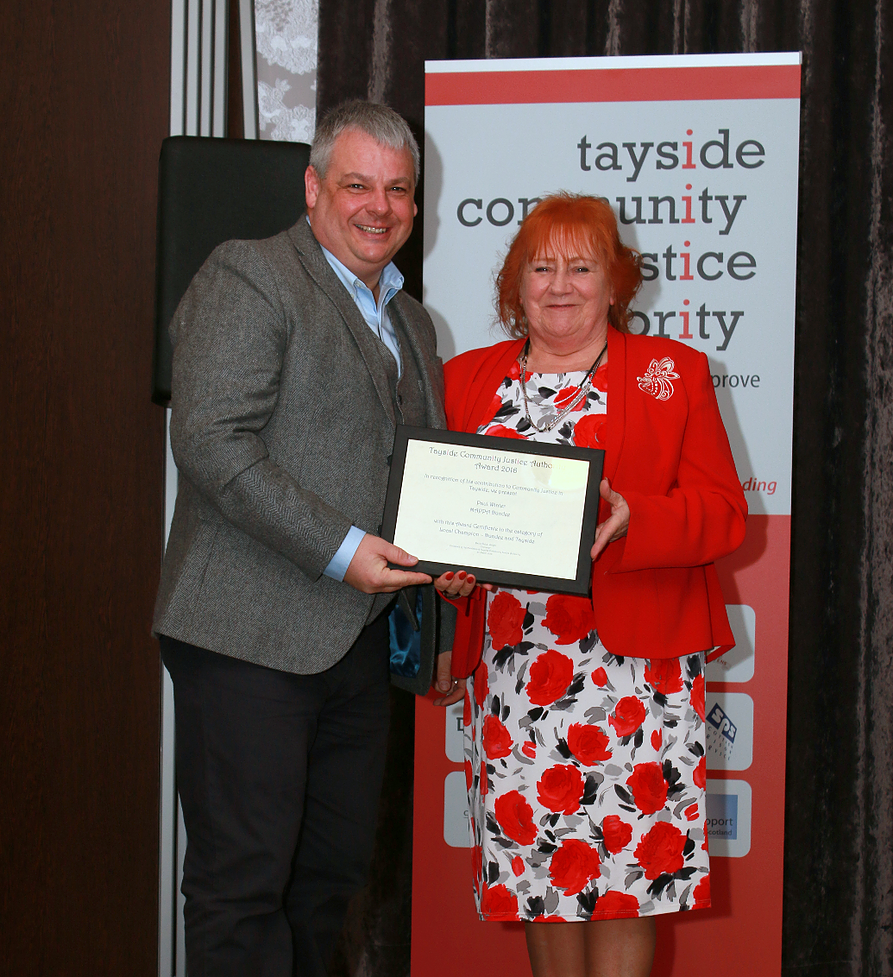 Health liaison officer recognised as Tayside Local Champion