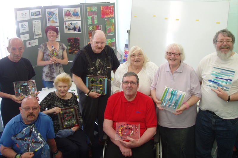 Headway Tayside Arbroath group unveil glass display