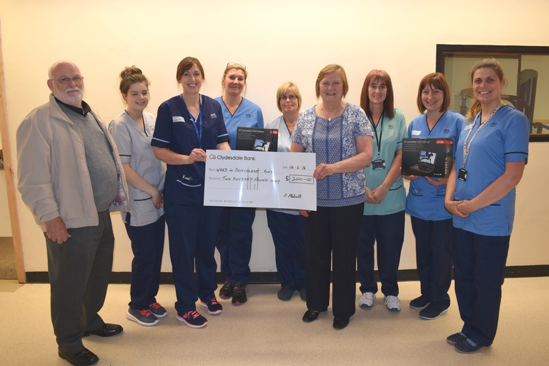 17-06-16 Donation to ward 4 at Ninewells and Maggies Centre