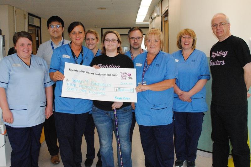 Donation to ward 9 at Ninewells Hospital