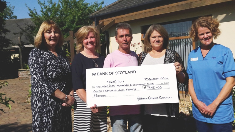 25-08-16 Wedding donation to palliative care homecare fund