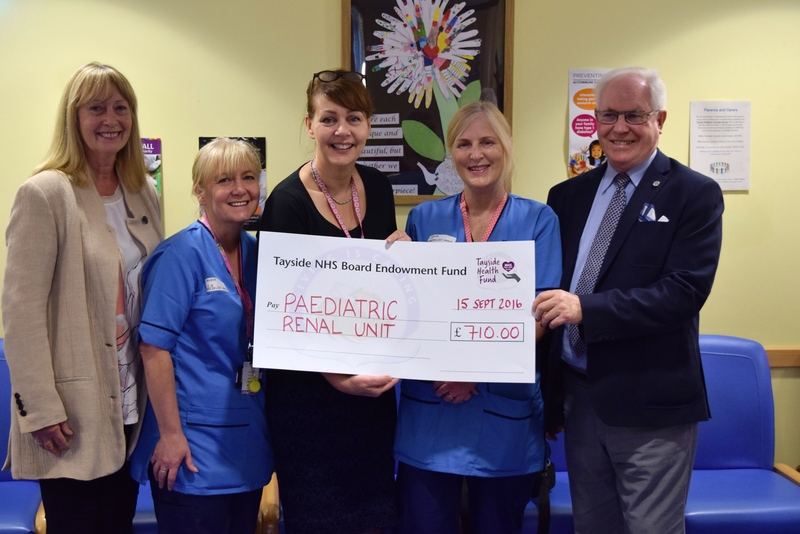 Golden donation to paediatric renal unit