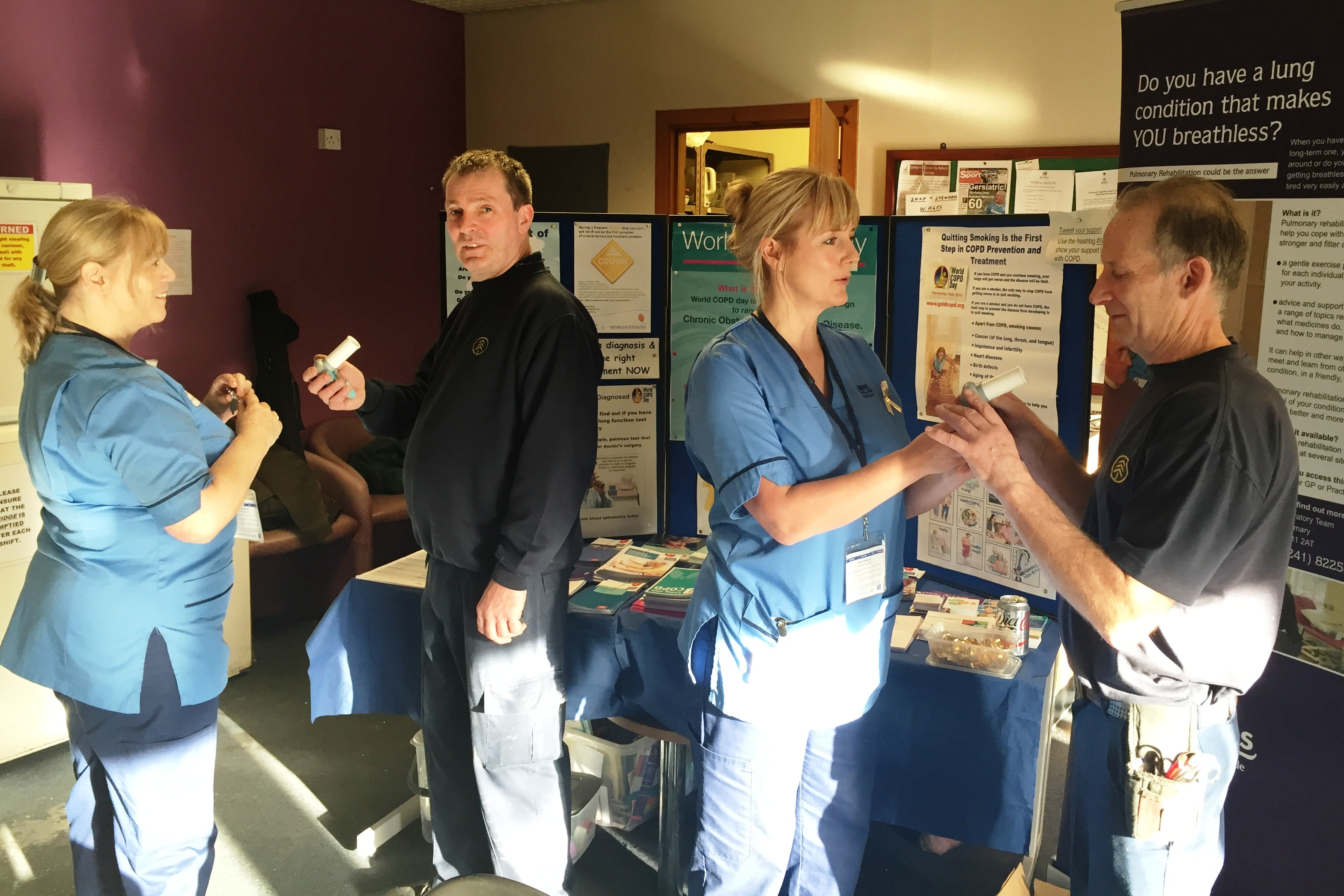 Specialist nurses hold COPD event in Forfar company