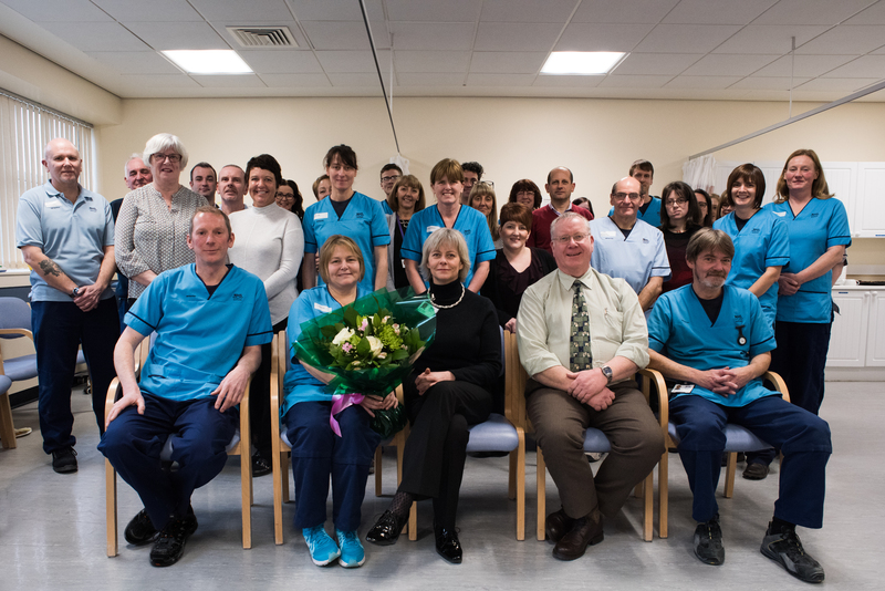 17-02-17 Prinicpal Orthotist and Orthotics Service Manager Lorna Duncan retires after 42 years service the NHS