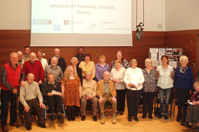 Singing out at Musicality event in Perth and Kinross