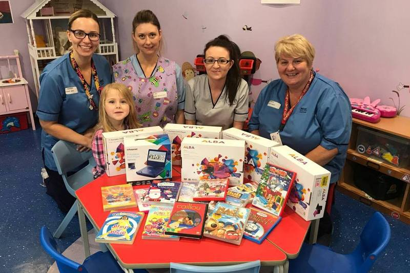 15-06-17 Portable DVD players donated to children�s surgical ward