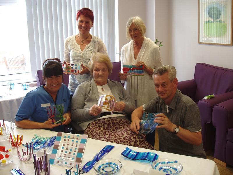 Celebration of patients� glass crafts at PRI Stroke Unit
