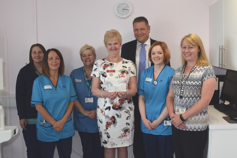 11-07-17 Donation to Breast Screening Unit at Ninewells