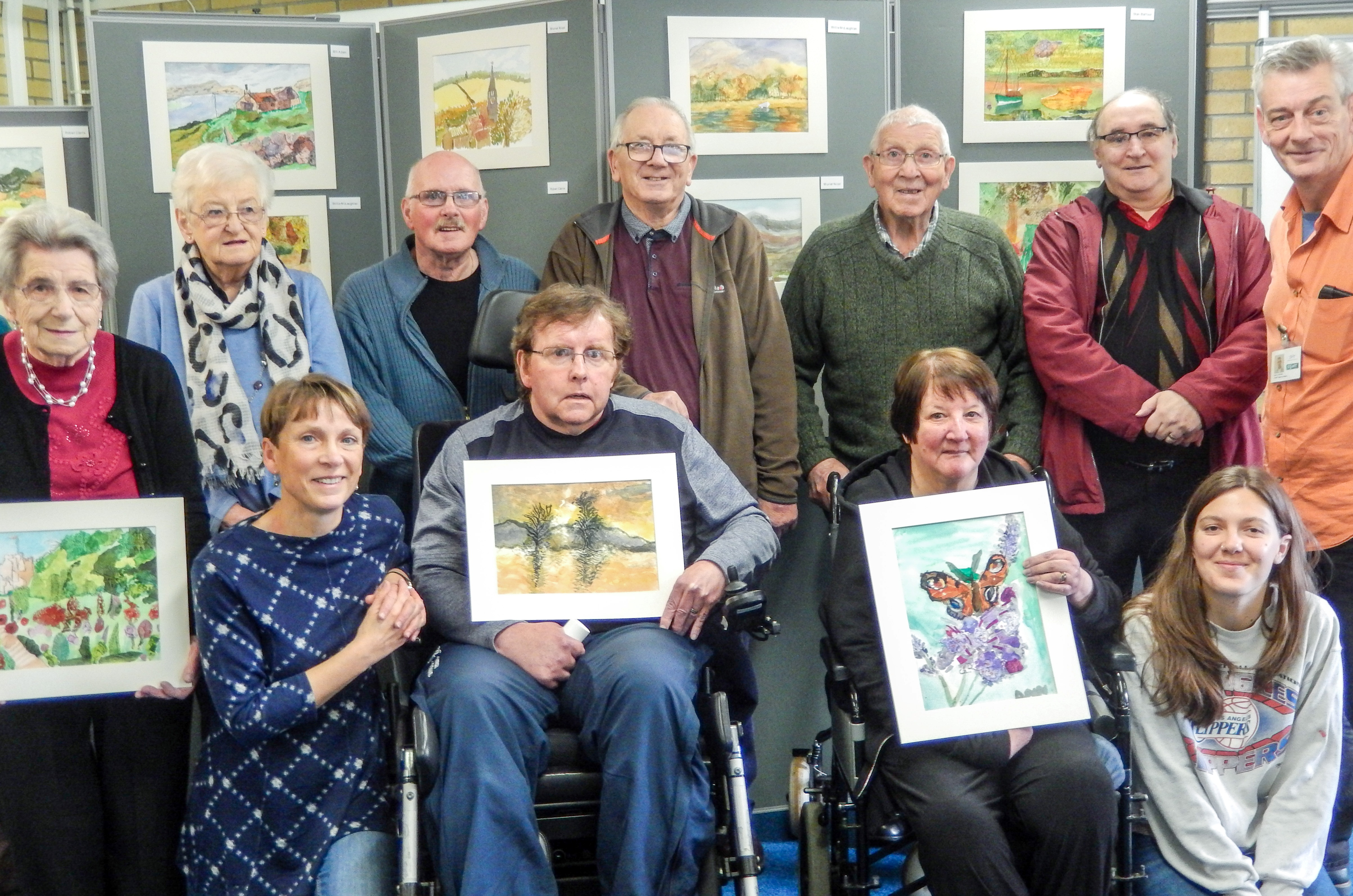 Watercolours exhibition by Forfar Stroke Group