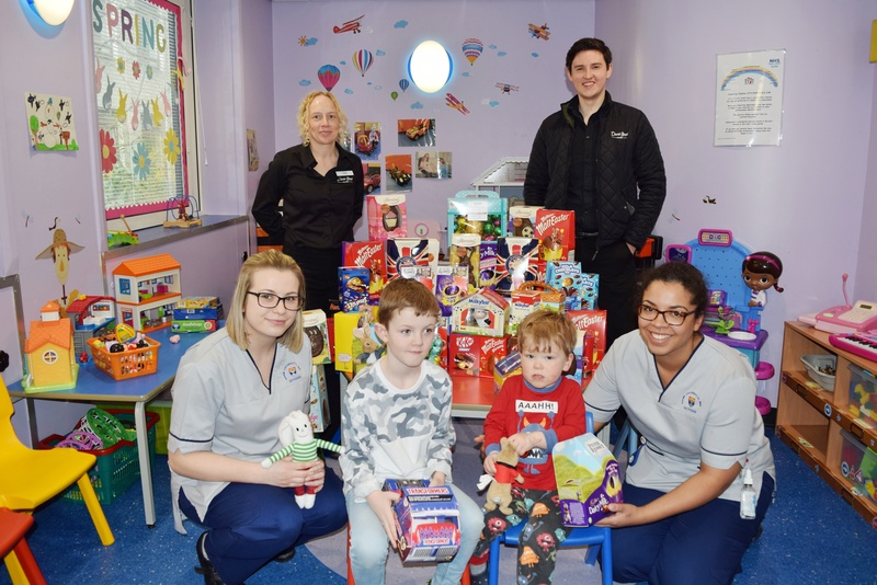 David Lloyd members donate Easter eggs to surgical ward