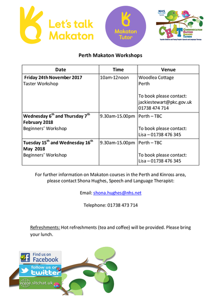 Perth Makaton Dates